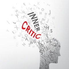 INNER CRITIC concept typography