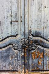 Vintage old door background.