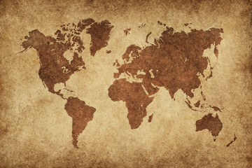 World Map Paper Vintage