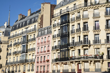 Beaux immeubles à Paris, France