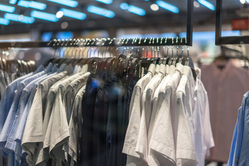 luxury clothes in shopping mall