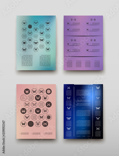 Leaflet Cover Infographics Presentation Abstract Geometric