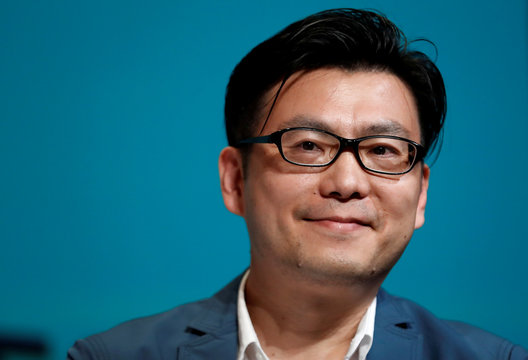 Chris Tung, Chief Marketing Officer at Alibaba, attends a conference at the Cannes Lions International Festival of Creativity, in Cannes