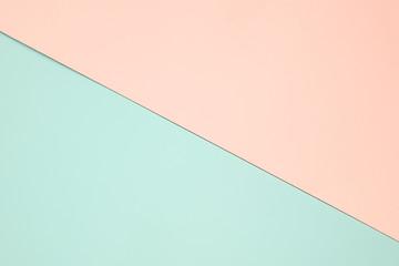 Light green and orange pastel paper color for background