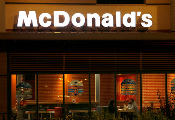 The logo of a McDonald's restaurant is seen in Bordeaux