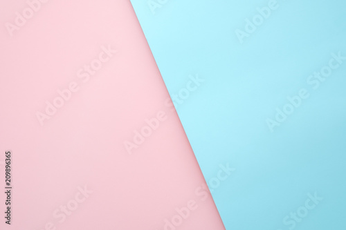 Pink And Light Blue Pastel Paper Color Cross Overlap For Background