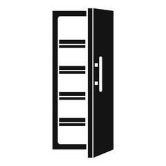 Kitchen fridge icon. Simple illustration of kitchen fridge vector icon for web design isolated on white background
