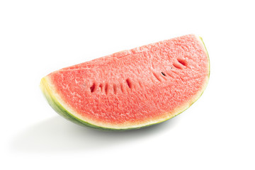 Sliced ripe watermelon on white background