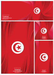 Abstract Tunisia Flag Background