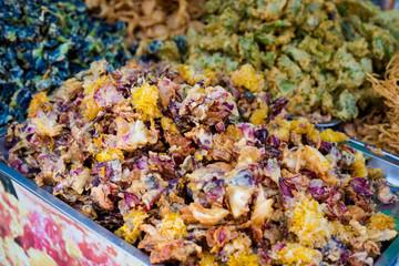 Thai deep fried crispy flowers