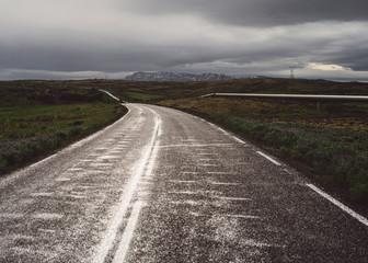Iceland Black Road Fototapete
