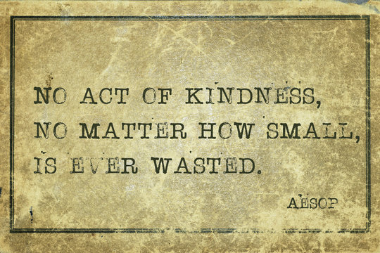 act of kindness Aesop