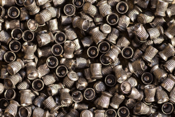 Numerous airgun lead pellets background