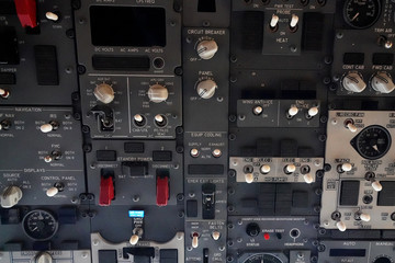 A 737 instrument panel is pictured during a presentation by WestJet celebrating Canada's first ultra low cost airline, Swoop, at John C. Munro Hamilton International Airport in Hamilton