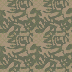 Military camouflage seamless pattern in green and brown colors