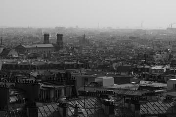 Montmartre en hiver - Pollution
