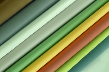 Sheets of paper in different colors.