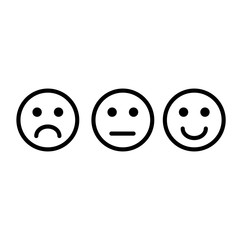Vector Set smiley isolated on white background