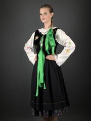 Slovakian folklore. Traditional costume.