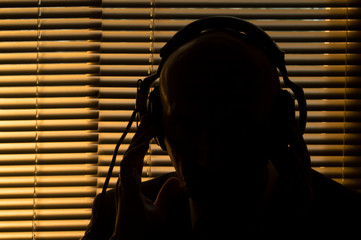 FBI secret agent listens and records the conversation