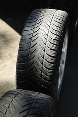 car, wheel, replacement, tires, rims, driving, safety, tread, storage, transport,