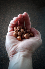 Nuts in the palm of your hand