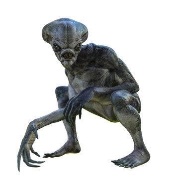 hammerhead alien exploring arround