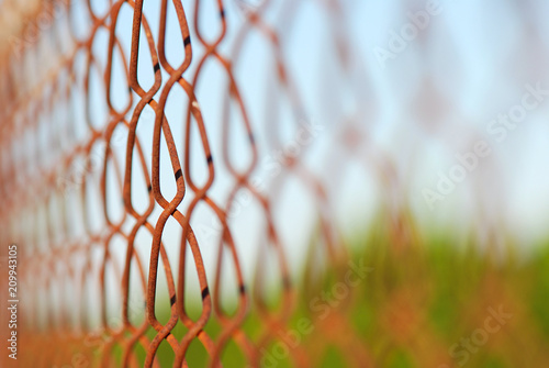 VALLA DE ALAMBRE GALVANIZADO Stock photo and royaltyfree images on
