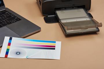 Performing color printer test