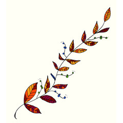 Harvest themed hand drawn garland