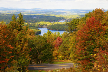 autumn landscape. foliage  in New England