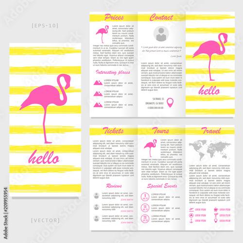 tri fold travel brochure