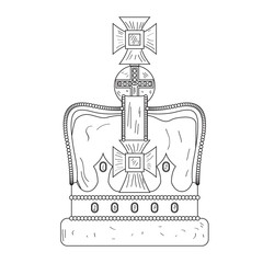 Sketch of a royal crown
