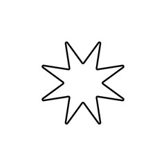 eight-pointed star line icon. Element of star icon for mobile concept and web apps. Thin line eight-pointed star icon can be used for web and mobile. Premium icon