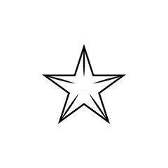 star line icon. Element of star icon for mobile concept and web apps. Thin line star icon can be used for web and mobile. Premium icon