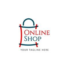 Online Shop Logo Vector Template Design Illustration