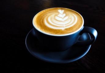 Latte With Beautiful Latte Art
