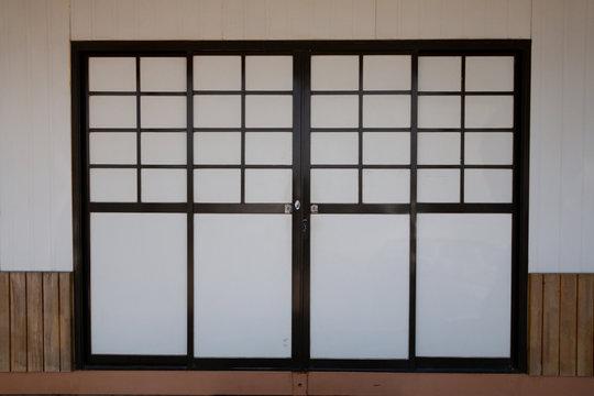 japanese door , design a pattern background .