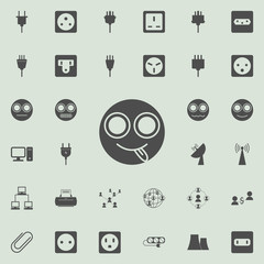 smiley with tongue out icon. Detailed set of  Minimalistic  icons. Premium quality graphic design sign. One of the collection icons for websites, web design, mobile app