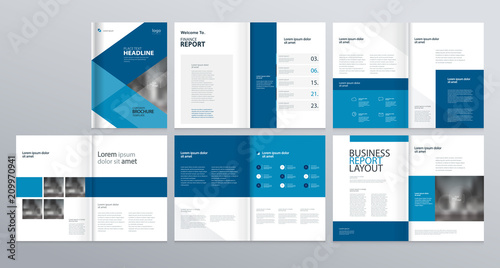 layout template for company profile annual report brochures