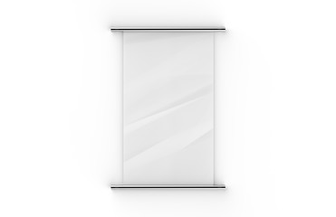 Blank scrolls of white paper on isolated white background, 3d illustration