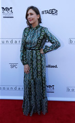 """Cast member Farmiga poses at the premiere for the movie """"Boundaries"""" in Los Angeles"""