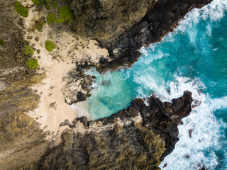 Halona Cove coastal landscape Oahu, Hawaii