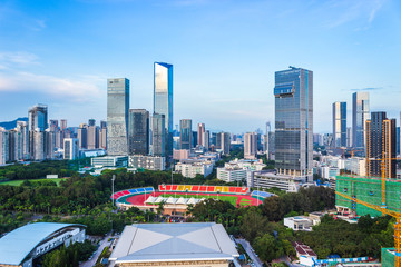 The city scenery of Shenzhen high and new technology park