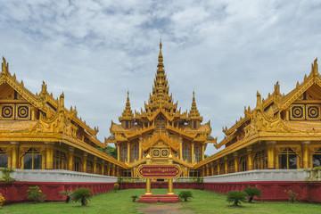Kambawzathardi Golden Palace in Bago, Myanmar