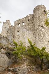Ruins of old medieval castle of Bargeme in Provence France