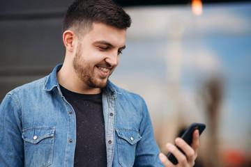 Man use a phone