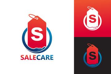 Sale Care Logo Template Design Vector, Emblem, Design Concept, Creative Symbol, Icon