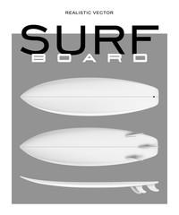 Surf board realistic vector