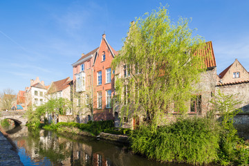 Wall Murals Bridges Traditional medieval architecture in the old town of Bruges (Brugge), Belgium
